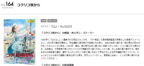 映画 コクリコ坂からの無料動画配信とフル動画の無料視聴まとめ