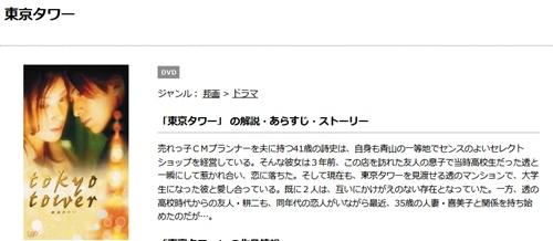 岡田准一|映画 東京タワーの無料動画配信とフル動画の無料視聴まとめ