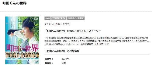 映画 町田くんの世界 フル動画を無料視聴