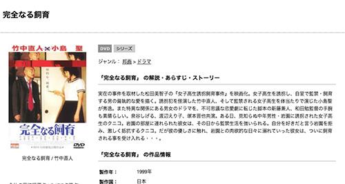 小島聖|映画 完全なる飼育の無料動画配信とフル動画を無料視聴まとめ