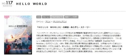 映画 HELLO WORLDの無料動画配信とフル動画の無料視聴まとめ