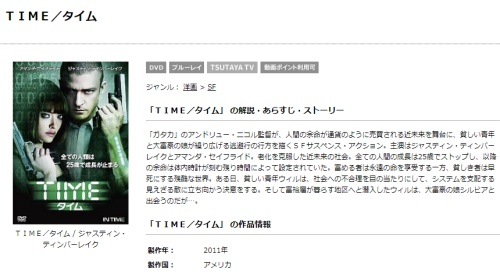 映画  TIME/タイムの無料動画をフル配信で無料視聴