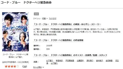 ドラマ コード・ブルー1ドクターヘリ緊急救命の1話〜全話の無料視聴配信まとめ