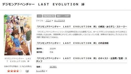 映画 デジモンアドベンチャー LAST EVOLUTION 絆の無料動画をフル配信で無料視聴