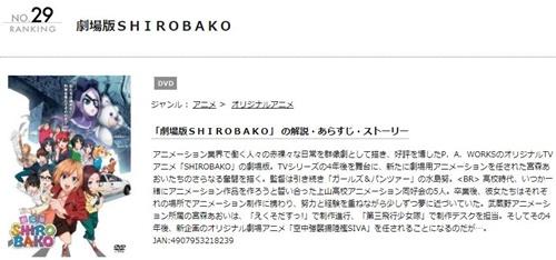 アニメ劇場版 SHIROBAKOの無料動画をフル配信で無料視聴