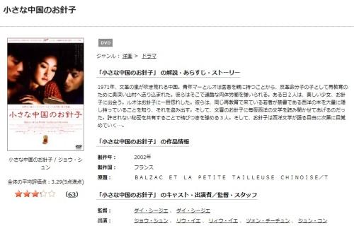 映画 小さな中国のお針子の無料動画をフル配信で無料視聴