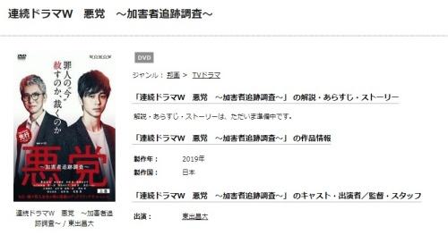 ドラマ 悪党~加害者追跡調査~の1話〜全話無料視聴配信まとめ