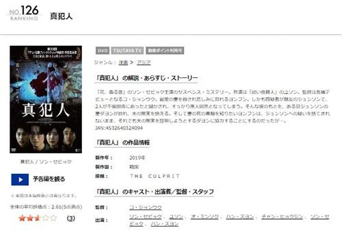 韓国映画 真犯人の無料動画をフル配信で無料視聴