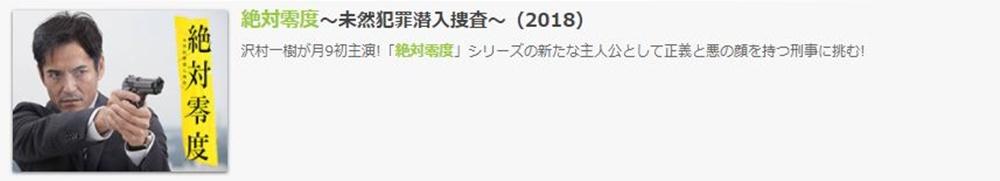 ドラマ 絶対零度 2018の1話〜全話無料視聴配信まとめ
