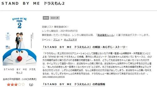 映画 STAND BY ME ドラえもん2の無料動画をフル配信で無料視聴