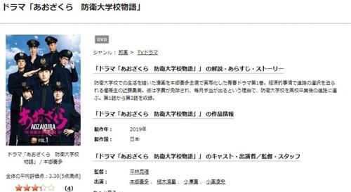 ドラマ あおざくら 防衛大学校物語の1話〜全話を無料視聴