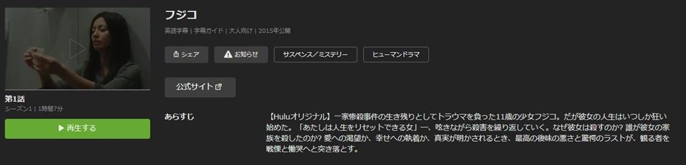 ドラマ フジコの1話〜全話無料視聴配信まとめ