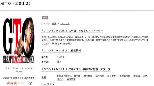 ドラマ GTO(2012)の1話〜全話無料視聴配信まとめ