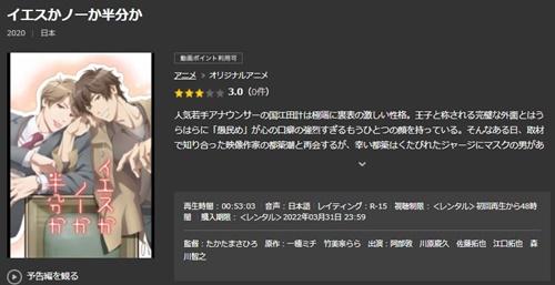 映画 イエスかノーか半分かのアニメ無料動画をフル配信で無料視聴