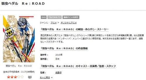 弱虫ペダル Re:ROADのアニメ無料動画