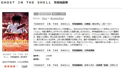 攻殻機動隊 GHOST IN THE SHELL 新劇場版のアニメ無料動画